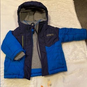 ZeroXposur toddler boys blue coat,12 months